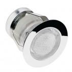 59130 Ikon LED White Round Stainless Steel Decking Kit