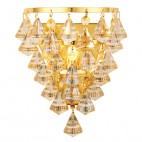 61246 Renner 33W 1lt Champagne Crystal Glass Wall Light