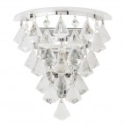 RENNER-1WBCH Renner 33W 1lt Clear Crystal Glass Wall Light