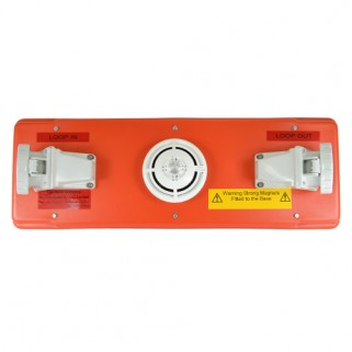 Front View of Combined Smoke and Heat Detector Outstation